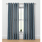 more details on Rossini Stripe Unlined Curtains - 229 x 229cm - Blue.