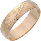 more details on 9ct Yellow Gold 5mm Kiss Pattern D Shape Wedding Ring.