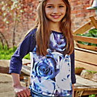 more details on Cherokee Girls' Rose Raglan Top.