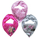 more details on Disney Minnie Mouse 3 Pack of Bibs - One Size.