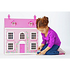 more details on Chad Valley Wooden 3 Storey Dolls House - Pink.