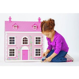 Wooden 3 Storey Dolls House