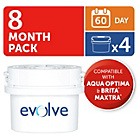 more details on Aqua Optima Evolve 60 Day Water Filter - 4 Pack.