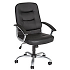 more details on Carter Leather Effect Height Adjustable Office Chair -Black.