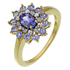 more details on 18ct Gold Plated Sterling Silver Tanzanite and Diamond Ring.