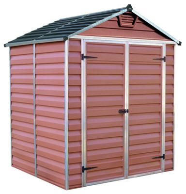 Buy Palram Skylight Plastic Shed Amber 6x5ft At Argos Co