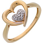 more details on 9ct Gold Plated Sterling Silver Diamond Heart Ring.