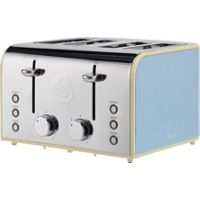 Swan Retro 4 Slice Toaster (Blue)