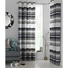 more details on Heart Of House Lincoln Eyelet Curtains 228  x 228cm - Grey.