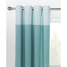 more details on HOME Dublin Unlined Eyelet Curtains - 117 x 183cm - Duck Egg