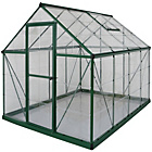 more details on Palram Harmony Green Greenhouse - 6 x 8ft