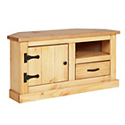 more details on San Diego 1 Drawer Corner TV Unit - Solid Pine.