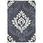 more details on Heart of House Sofia Damask Rug 120 x 160cm - Grey.