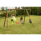 more details on Little Tikes Stockholm Wooden Swing Set - 4 in 1.
