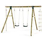 more details on Plum Gibbon Wooden Garden Swing Set.