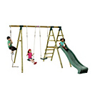 more details on Plum Giant Baboon Wooden Garden Swing Set with Slide.