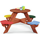 more details on Plum Children's Garden Picnic Table with Coloured Seats.