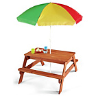 more details on Plum Children's Garden Picnic Table with Parasol.