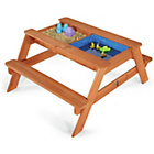 more details on Plum Surfside Sand Pit and Water Wooden Picnic Table.