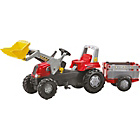 more details on Rolly Toys Tractor with Loader and Farm Trailer - Red.