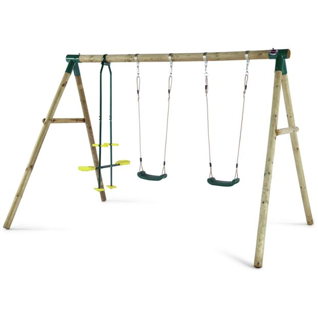 Buy Plum Colobus Wooden Garden Swing Set At Argos Co Uk