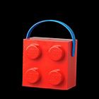 more details on Lego Lunch Box with Handle - Red.