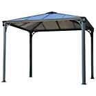 more details on Palram Palermo 9.6x9.6ft Gazebo - Dark Grey.