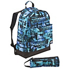 more details on Quiksilver Backpack and Pencil Case Set - Blue.