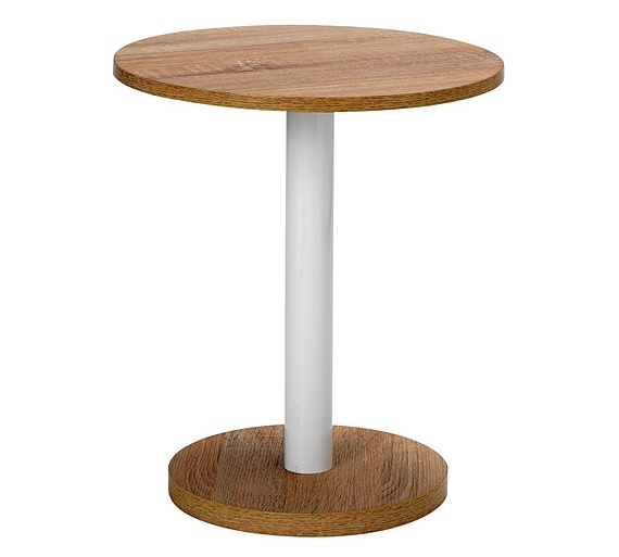 Buy home small lamp side table oak at your for Table lamps argos