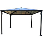 more details on Palram Palermo Gazebo 11.8x11.8ft - Dark Grey.