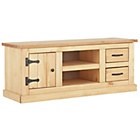 more details on San Diego 2 Drawer TV Unit - Antique Solid Pine.