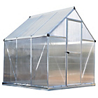 more details on Palram Mythos Silver Greenhouse - 6 x 6ft