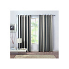more details on Rossini Stripe Unlined Curtains - 117 x 137cm - Grey.