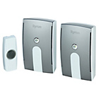 more details on Byron White 125m Plug-in and Portable Twin Pack Doorbell Kit