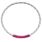 more details on Sterling Silver Fuscia Crystal Bangle.