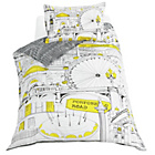 more details on London Illustration Bedding Set - Single.