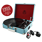 more details on GPO Attache 3 Speed Portable USB Turntable - Sky Blue.