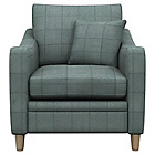 more details on Heart of House Newbury Fabric Check Chair - Duckegg.