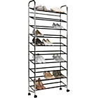 more details on HOME 10 Shelf Rolling Shoe Rack.