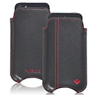 more details on NueVue Leather iPhone 4 4s and 5c Case - Black/Pink