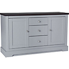 more details on Heart of House Westbury 2 Door 3 Dwr Large Sideboard - Grey.