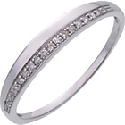 more details on 9ct White Gold 0.10ct Diamond Wedding Ring.