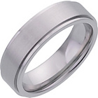 more details on Men's Cobalt 7mm Matte and Polished Plain Band Ring.