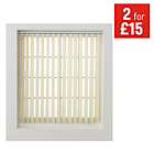 more details on HOME Vertical Blind Slats Pack - 122x229cm - Cream.