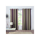 more details on Rossini Stripe Unlined Curtains - 168 x 183cm - Plum.