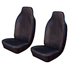 more details on Cosmos Heavy Duty Sport Front Car Seat Covers x2 - Blue.