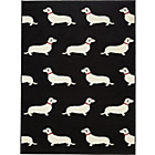 more details on Dogs Rug 120 x 160cm - Black.
