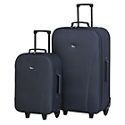 more details on Go Explore 2 Piece Wheeled Luggage Set - Navy.