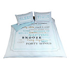 more details on Snooze Typography Bedding Set - Double.