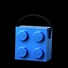more details on Lego Lunch Box with Handle - Blue.